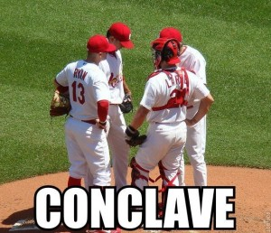 Cardinals hold a conclave.